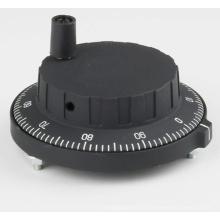 Volante MPG de plástico preto para fresamento CNC