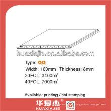 Panneau en PVC et panneau de plafond160mm * 8mm