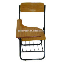 Wooden Backrest Office Chair Metal Frame