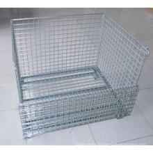 Recipiente de gaiola de armazenamento de malha de arame