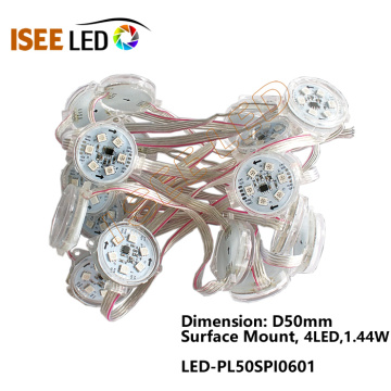 WS2811 50MM Led luces decorativas de punto