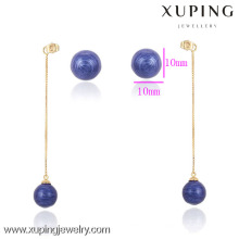 90484- Xuping Fashion Hot Sale Ladies Drops Earring with Funky Gifts Kpop Ball Shaped