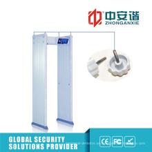 100 niveles de seguridad de sonido de alarma al aire libre impermeable detector de metales para la exposición
