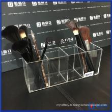 Vanity Posh Clear Acrylique Brush Holder avec couvercle
