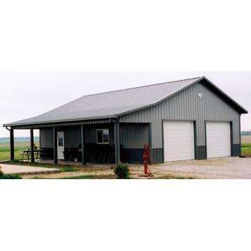 Edificio de cobertizo de estructura de acero ligero (KXD-SSB1413)