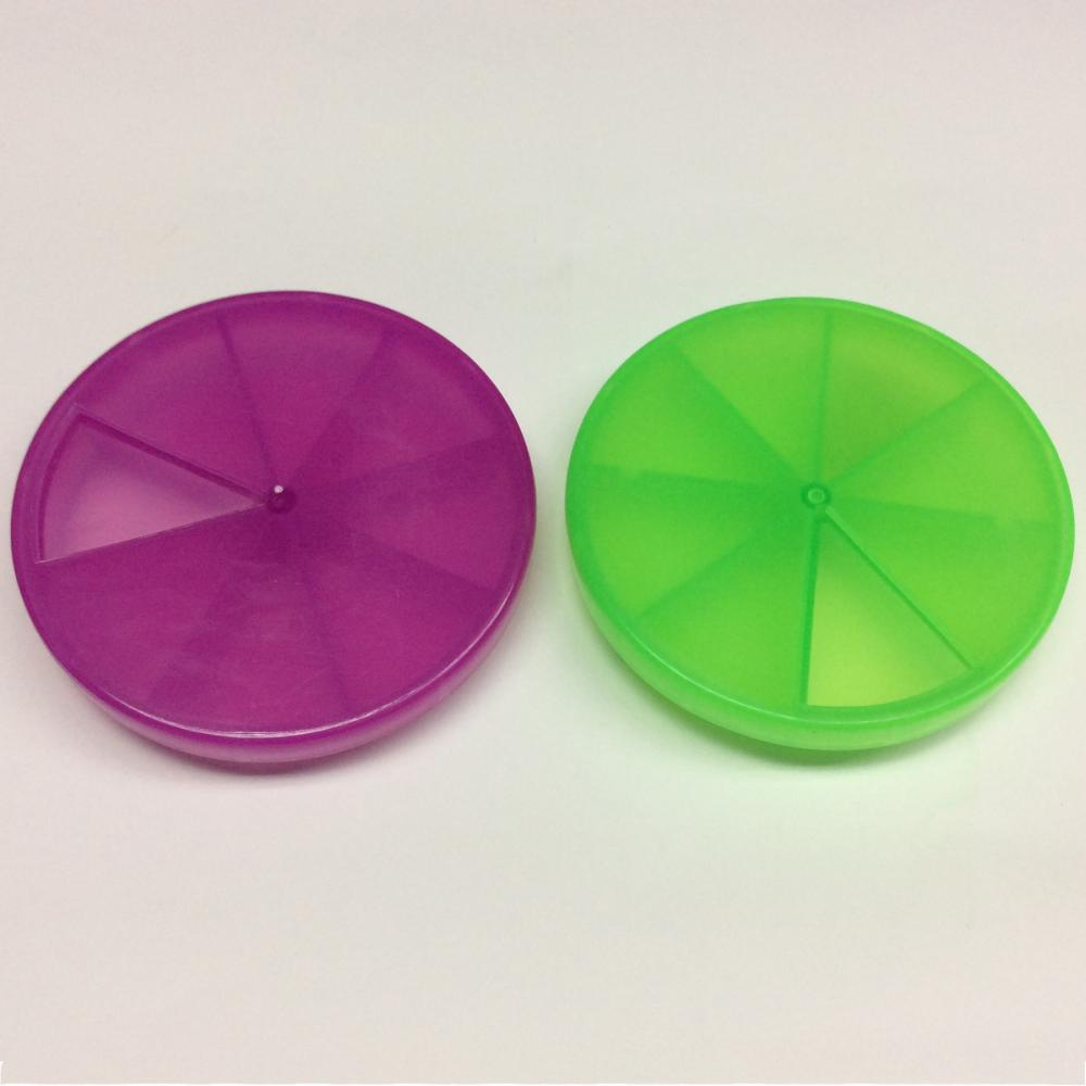 Plastic Rotary Portable Eight Grid Pill Case