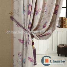 Tecido de seda impresso de estilo americano para cortina de projetor