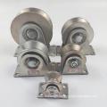 Galvanized steel sliding gate roller caster wheel for sliding door