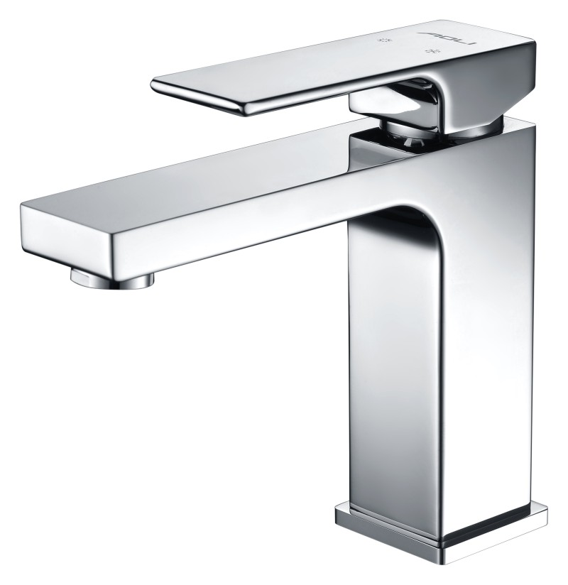 Solid Brass Faucet Bathroom Chrome Finished Commercial Basin Mixer Tap