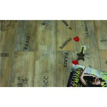 8.3mm AC3 Pearl Walnut V-Grooved Waxed Edged Laminated Floor