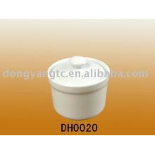 Azúcar de cerámica del logotipo de encargo del nuevo diseño Pote, cruet pot, pote del azúcar, pote de sal con la tapa