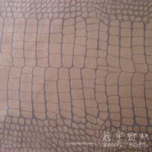 Teste padrão do crocodilo tecido sofá camurça digitado