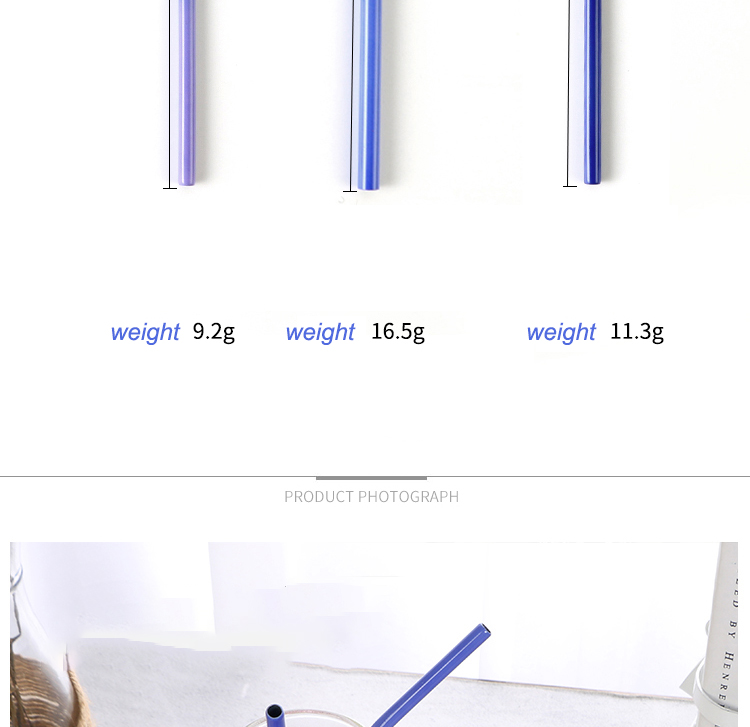 Color Changing Metal Straws