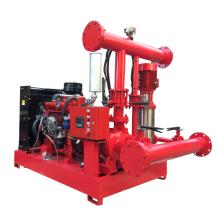 750GPM 8бар комплекта пожарного насоса двигателя дизеля-управляемый пожарный насос и электрический насос для пожаротушения с жокей насосом
