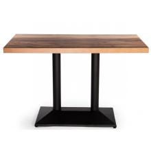Tables à manger de restaurant de café en bois stratifié HPL moderne