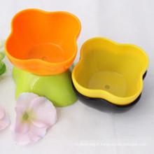 Pot de fleur en plastique coloré pour la décoration de maison et de jardin