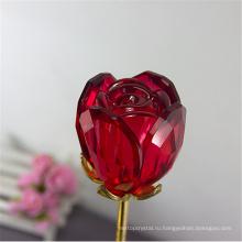 Лучшие продажи прозрачный кристалл роза цветок ремесло подарки