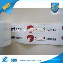 Amostra grátis Hot Selling personalizado, impermeável e plástico, etiqueta de manga adesiva etiqueta VOID para garrafa