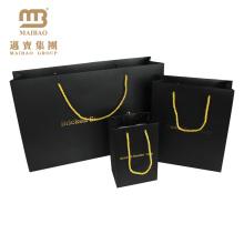 Роскошный Уникальный Дизайн Черный Золотой Подарок Нести Упаковывая Подгонянные Собственный Логотип Печатных Хозяйственная Сумка Бумаги