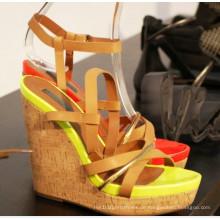 Neue Stil High Heel Wedge Sommer Sandalen (HS13-097)