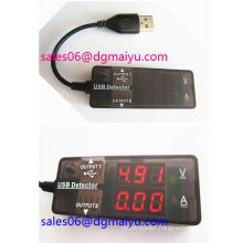 Digital Display Mini USB Power Current Voltage Meter Tester Portable Mini Current and Voltage Detector Red and Blue