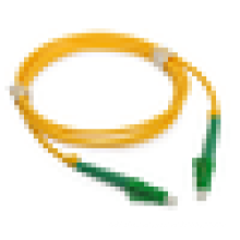LC APC to LC APC 9/125 Simplex Duplex Single-Mode Fiber Patch Cable with 2.0mm PVC Jacket