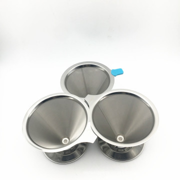 Reutilizável 6 8 10 copos de aço inoxidável 304 Kone filtro de café usado para fabricação de café em casa