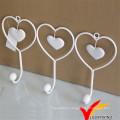 White Heart Shape Metal Wall Hook
