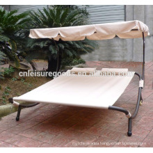 Uplion outdoor steel pool sunbed with canopy