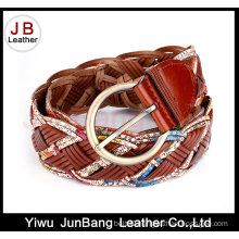 Hot Quality Women′s Bonded Leather Braid Belt