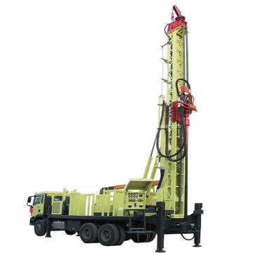Plataforma de perfuração de poço de água DTH 1200m montada em caminhão