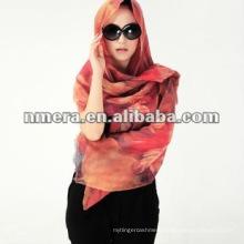 Digital print, 100% wool scarf