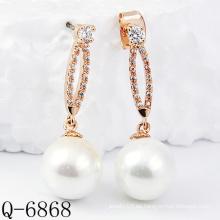 Los últimos estilos pendientes de la perla plata 925 (Q-6868)