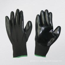 13G Polyester Liner Nitril Coated Chemikalienhandschuh (5029. BL)