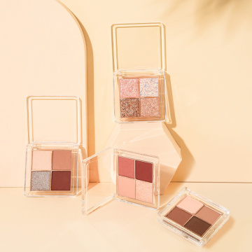 2021 new waterproof and easy-to-make up 4-color eyeshadow