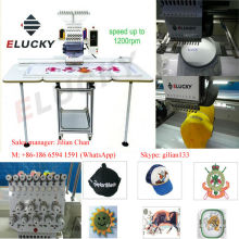 15 colors single head computer embroidery machine price with large working area