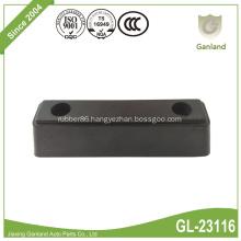 Solid Heavy Duty Reinforced Rubber Bumper Strip Narrow