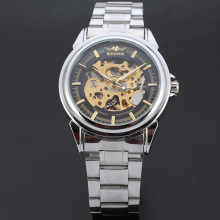 winner alloy case watch with stainless steel band watch wholesale watch