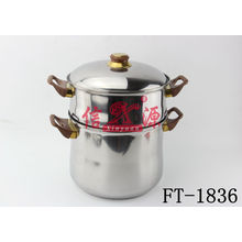 Stainless Steel Steam Pot with High Soup Pot (FT-1836)