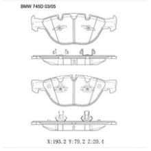 Freio de carro semi metálico Pads OE:34110300361 para BMW