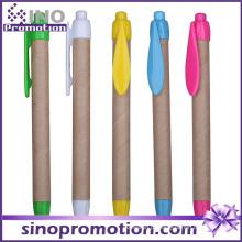 Pena de bola grossa do Eco-Amigo com logotipo do grampo que imprime a propaganda relativa à promoção