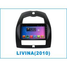Reproductor de DVD del coche del sistema del androide para Nissan Livina con la navegación del GPS / TV / WiFi