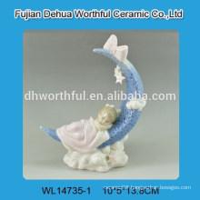 Ceramic home decoration with baby figurine