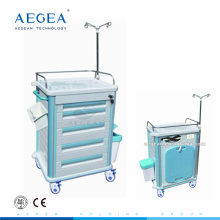 AG-ET012B1 Hospital transfer mobile closed abs material medical healthcare carts