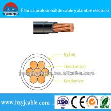 Thhn condutor de cobre PVC Isolado Nylon Jacket Fio e Cabo