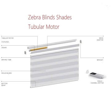 Elektrisches Zebra Roller Sheer Blind