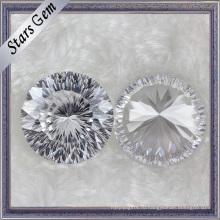 Замечательный круглый белый синтетический алмаз