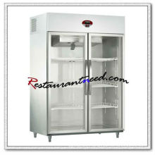 R300 2 Glass Doors Luxurious Fancooling Reach-In Kitchen Refrigerator