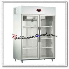 R300 2 Glass Doors Luxurious Fancooling Reach-In Kitchen Refrigerator