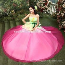 De qualidade superior 100% beaded vestido de noite moderno vestido de pêssego rosa vestido de noite quinceanera vestidos vestido de bola